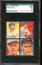 1935 Goudey 4 in 1 Baseball Card #7E Boston Braves SGC 40 VG 3