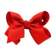 3 Inch Bowknot BabyGirl Bow Hair Clip Grosgrain Ribbon Boutique Hairpin