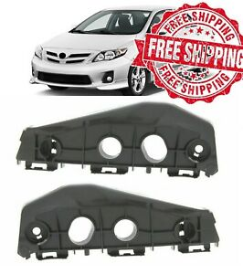For 11 13 Toyota Corolla Front Bumper Bracket Set Left And Right OE Replacement