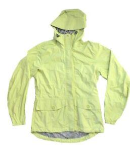 MOUNTAIN EQUIPMENT CO-OP Fluro Yellow-Green Long Sleeve Zip Front Raincoat M