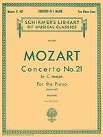 Mozart: Concerto No. 21 in C Major, Piano Score K.467 by Wolfgang Amadeus Mozart