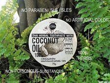 100% HERB THAI TOOTHPASTE COCONUT OIL CLOVE ANTI SENSITIVE TEETH NO BAD BREATH