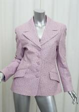 ESCADA Womens Lilac Purple Ostrich Embossed Leather Blazer Jacket Coat 38/6 S