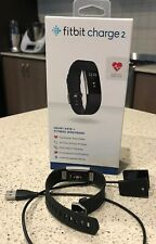 FITBIT CHARGE 2 HR SMART FITNESS WATCH/ HEART MONITOR SIZE L - BROKEN SCREEN