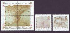 Singapore 1989 SC 545-547 MNH Set Old Map