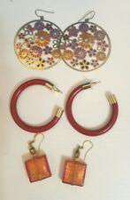 womens costume earrings bundle boho blogger chic 3 pairs