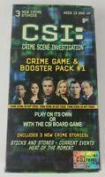 CSI Crime Scene Investigation Crime Game & Booster Pack #1