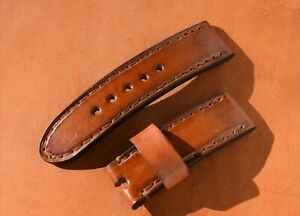 Watch Band Vintage, Genuine Leather 18-20-22-24-26mm PAM Strap Mens Handmade