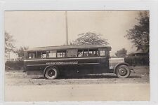 VINTAGE POSTCARD BUS SERVICE FROM  ADELAIDE TO GLENELG   1926