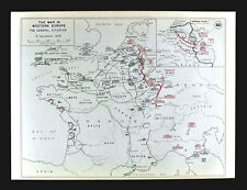 West Point WWII Map Battle of Aachen Belgium Germany Dec 15, 1944 German Counter