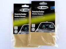 (8,40€/Einheit) 2 x RS1000 Fensterleder Autoleder Ledertuch Echtleder Leather