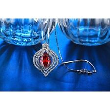 New Luxury Zinc Alloy Ruby necklace pendant