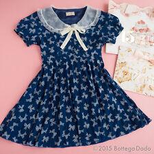 RARE LIZ LISA Penderie Pleats Navy Ribbon Dress Hime gyaru Lolita Kawaii 109