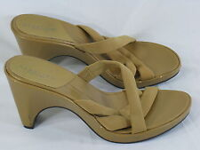 Kenneth Cole Reaction Brown Leather Strappy Chunky Heels 9.5 M US Excellent