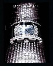 PRINT AD 2006 BVLGARI ASSIOMA MOTHER OF PEARL SATIN STRAP WHITE GOLD