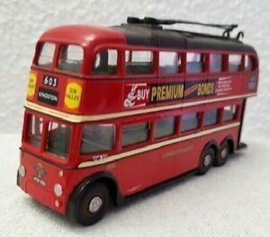 CORGI ORIGINAL OMNIBUS TROLLEY BUS IMPERIAL LONDON TRANSPORT 603 RICHMOND 43708