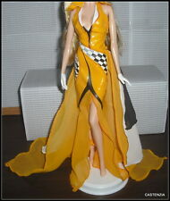 DRESS  BARBIE DOLL 50TH ANNIVERSARY MODEL MUSE YELLOW CORVETTE CHECKERED DRESS