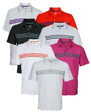 Adidas Golf Men's Puremotion Climacool 3-Stripes Short Sleeve Polo