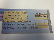 Grateful Dead  Ticket Stub 6/20/88