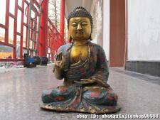 Tibet Classical Bronze cloisonne Sakyamuni Shakyamuni Tathagata Buddha Statue
