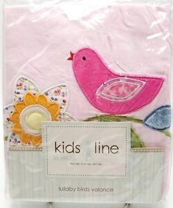 Kids Line Baby Girls Nursery Valance Lullaby Birds Toddler 60x14 New