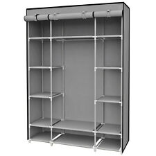 Sunbeam Free Standing Storage Closet With 13 Shelves & Roll Down Covers, Gray
