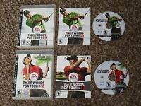 Works Great! Tiger Woods 09 + PGA Tour Golf 10 Complete Playstation 3 PS3 Lot