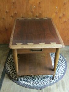 Vintage Lane End Table W/Drawer Style No 900-65 Dovetailed Oak/Fruitwood