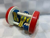 Vintage Baby Rolling Noise Toy Plastic 3 Figures
