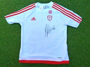 Maillot AS CANNES ASC signed signé GUY LACOMBE foot ultras