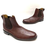 Cole Haan Mens Chelsea Dark Brown Leather Above Ankle Boots Size 13 M GREAT!