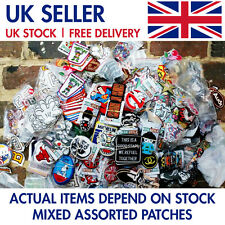 100 pcs Wholesale ASSORTED Patches Iron on Sew on Embroidered Badge Applique UK