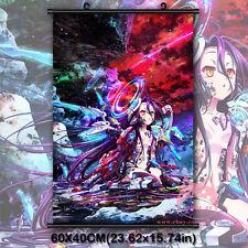 No Game No Life Zero Shiro Japan Anime Movie Wall Scroll Poster Decor Painting