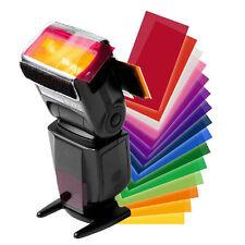 New Brand 12pc Strobist Flash Color Lighting Gel Pop Up Flash Diffuser Soft Box