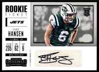 2017 PANINI CONTENDERS JETS CHAD HANSEN RC AUTO CALIFORNIA GOLDEN BEARS #275