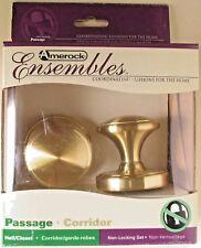 Amerock Ensembles Traditional Passage Knob Sterling Brass E1466 #6uo