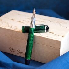 Montegrappa Limited Edition Mia Carissima Malachite Green & Silver Fountain Pen