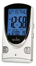 Acctim 14462 Porto Multifunción LCD Reloj despertador, blanco