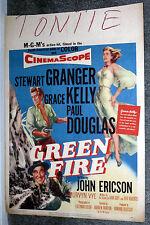 GREEN FIRE original 1955 movie poster GRACE KELLY/STEWART GRANGER/PAUL DOUGLAS