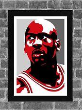 Chicago Bulls Michael Jordan Sports Portrait Print Art 11x17