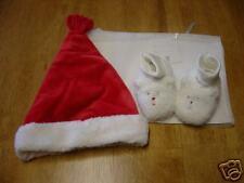 NWT NIP BABY GAP RED SANTA HAT & SHEPRA BOOTIES 3-6 MO