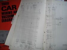 1989 ford festiva wiring diagrams manual set