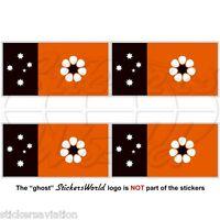 NORTHERN TERRITORY Flag Darwin NT Australia, Australian 50mm Stickers, Decals x4