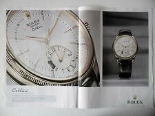 PUBLICITE-ADVERTISING :  ROLEX Cellini Dual Time [2pages] 2015 Montres