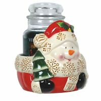Aromatize Christmas Snowman Candle Jar Holder
