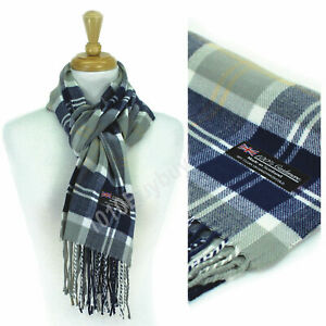 Plaid 100% Cashmere Made Scotland Classic Soft  Winter Scarf For Men  And Women