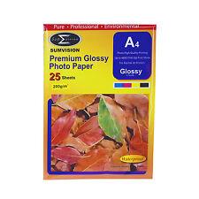 25 Blatt Pack Premium-A4 glänzend professionelle Fotopapier 210 x 297mm 200gm