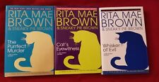 3 Hardcover Books - RITA MAE BROWN & SNEAKY PIE BROWN - See photos