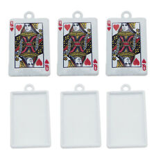 15pcs/Lot  Alloy White Heart Queen Poker Charms Pendant DIY Accessories Crafts
