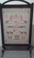 More details for sampler /firescreen george vi & elizabeth may 12 1937 coronation english monarch